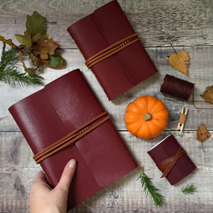 Heritage Leather Journal or Notebook