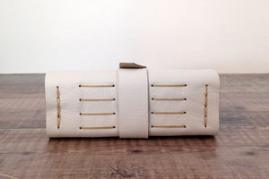 Handmade Leather Wedding Book Longstitch binding