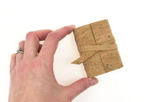 Natural Cork Vegan Miniature Journal fits in the palm of the hand