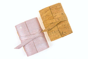 Cork Mini Journals in Natural and Pink Rose Gold