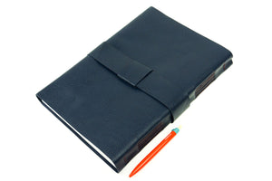 A4 Leather Journal: Blueberry