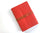 A5 medium portrait Red Leather Journal with leather thong