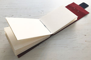 Leather Sketchbook has lay flat pages
