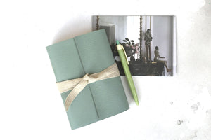 A6 Leather Sketchbook, Journal or Notebook bound by hand in the UK.
