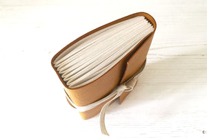 Leather bound sketchbook or notebook handmade in the UK.