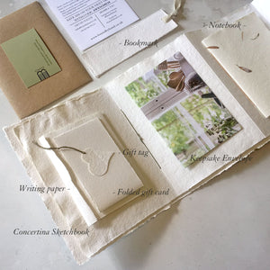 Paper Gift Set for first wedding anniversary, artists and creatives.