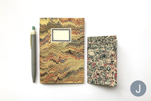 Marbled Notebooks Yellow and Pink A6 and A7 bound by hand in the UK