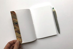 Handmade notebooks with marbled and Mohawk Superfine papers