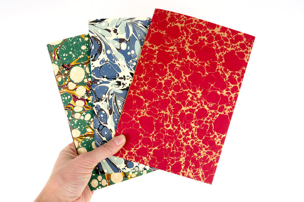 A5 Medium Marbled Notebooks