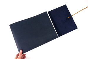 Leather Memory Book: Blue & Tan