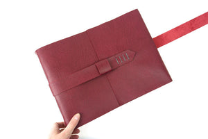 Crimson & Grey Leather Scrapbook / Album