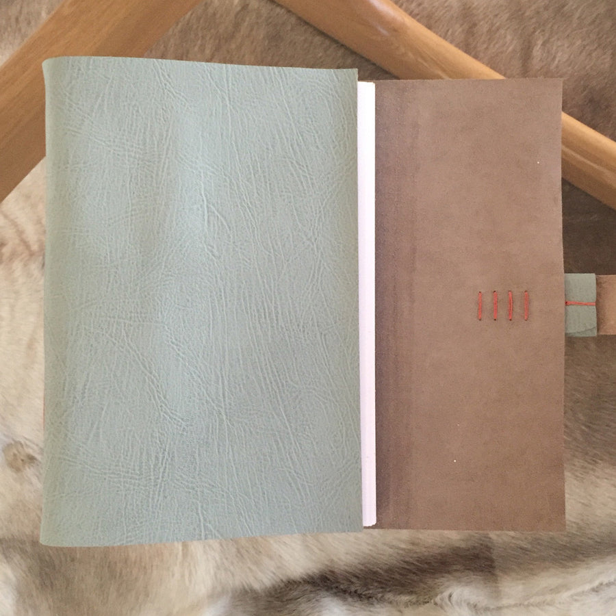 Duck Egg & Coral Hand Made Memory Book