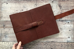 Leather Memory Book: hand bound scrapbook