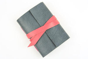 Grey and Pink Mini Leather Journal