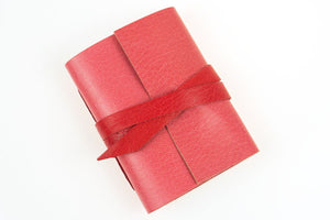 Pink and Red Miniature Leather Notebook