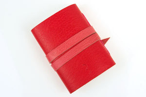 Miniature Leather Journal: Red & Pink