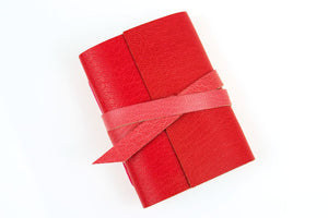 Red and Pink Leather Notebook