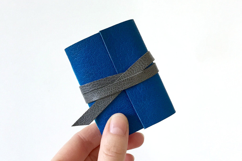Miniature Journal: Sapphire & Grey