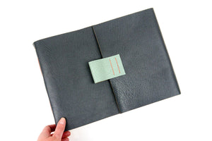 Leather Artists' Sketchbook handmade with cartridge paper