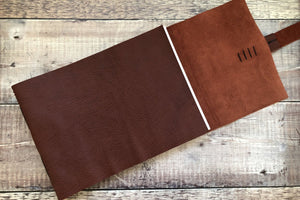 Hand stitched Oxblood Leather Sketchbook