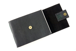 Watercolour Sketchbook hand made in Chocolate Brown leather and Green stitching. Traditional style made in the UK
