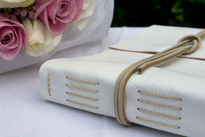 Wedding Guest Book A5 Medium leather bound