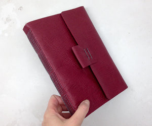 Art Sketchbook Bound by Hand in fine leather
