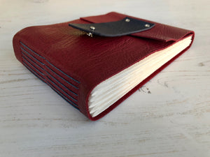 Longstitch Leather Sketchbook bound by hand in the UK