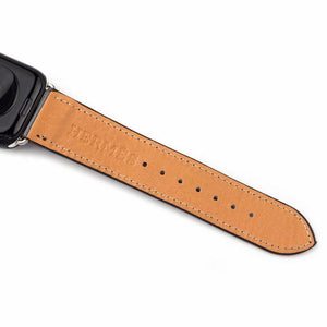 Hermes Style Leather Apple Watch Band Strap For iWatch Series 4/3/2/1 - Casememe.com