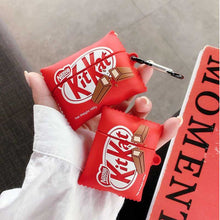 Load image into Gallery viewer, KitKat Chocolate Silicone Protective Case For Apple Airpods 1 & 2 & Pro - Casememe.com