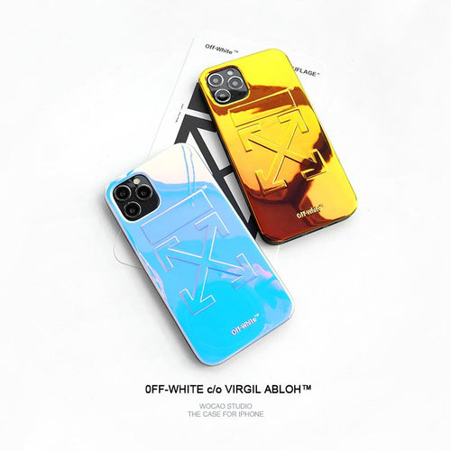 Off White Style Laser Shockproof Protective Designer iPhone Case For iPhone SE 11 Pro Max X XS Max XR 7 8 Plus