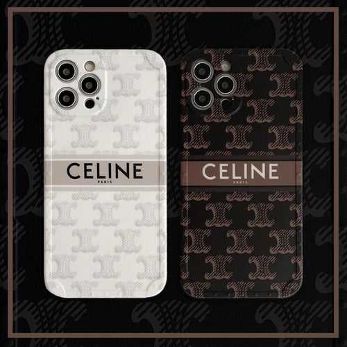 Celine Style Classic Silicone Designer iPhone Case For All iPhone Models - Casememe