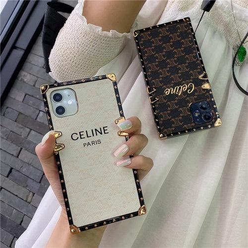 Celine Style Trunk Leather Designer iPhone Case For all iPhone models - Casememe
