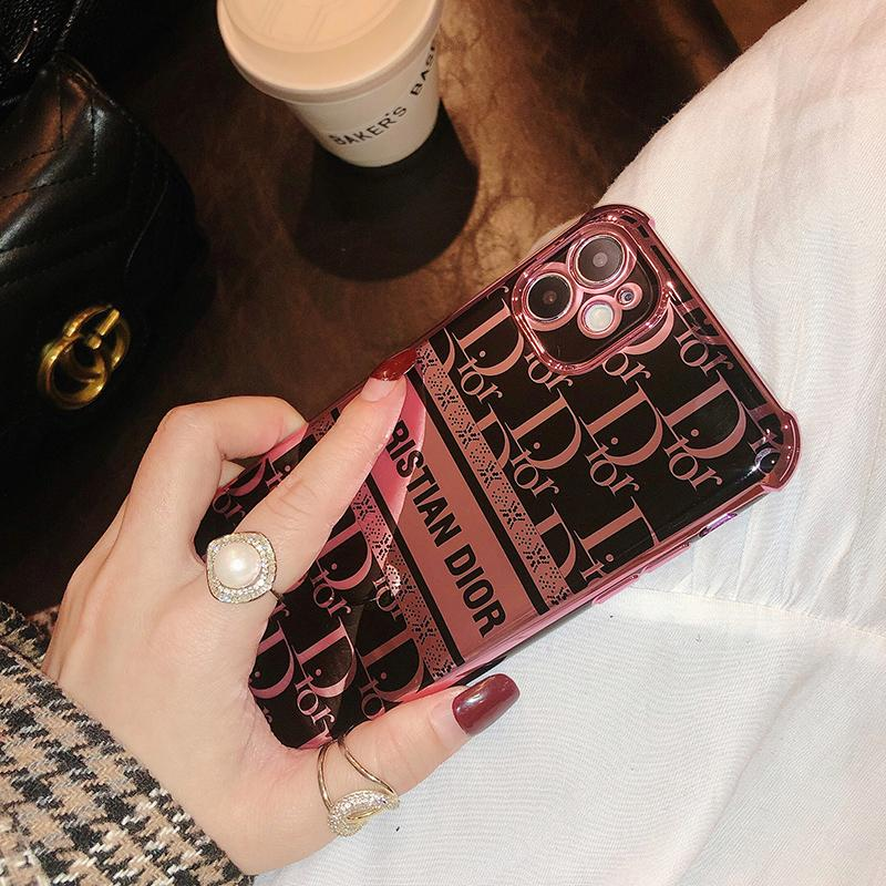 Christion Dior Style Electroplating Glossy TPU Silicone Designer iPhone Case For All iPhone Models - Casememe.com