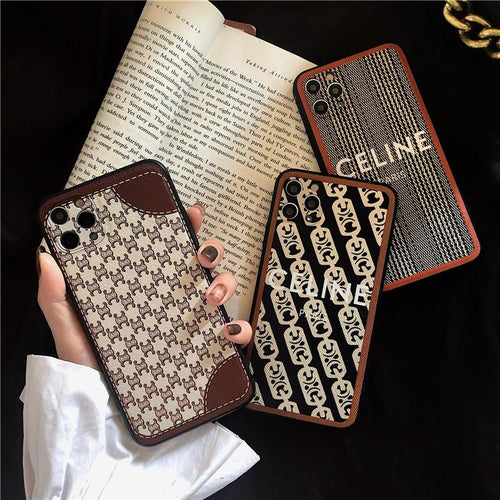 Celine Style Classic Leather Designer iPhone Case For All iPhone Models - Casememe
