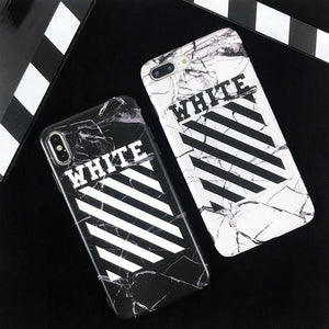 OFF WHITE Style Marble Classic Matte Soft Silicone Designer iPhone Case For iPhone SE 11 Pro Max X XS Max XR 7 8 Plus - Casememe.com