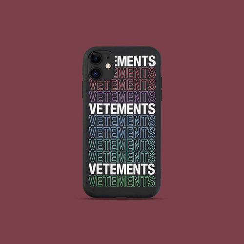 Vetements Style Silicone Shockproof Protective Designer iPhone Case For iPhone SE 11 Pro Max X XS Max XR 7 8 Plus