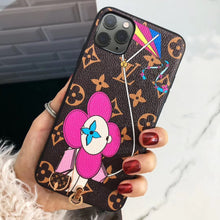 Load image into Gallery viewer, Louis Vuitton x Takashi Murakami Style Monogram Leather Protective Designer iPhone Case For iPhone 12 SE 11 Pro Max X XS Max XR 7 8 Plus - Casememe.com
