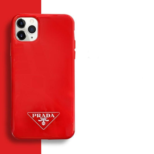 Prada Style Silicone Shockproof Protective Designer iPhone Case For iPhone SE 11 Pro Max X XS Max XR 7 8 Plus