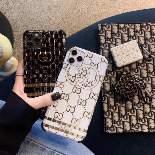 Gucci Style Electroplating Shockproof Protective Designer iPhone Case For iPhone SE 11 Pro Max X XS Max XR 7 8 Plus