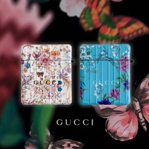 Gucci Style Floral Protective Case For Apple Airpods 1 & 2 & Pro - Casememe.com