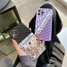 Load image into Gallery viewer, Christian Dior Style Silicone Designer iPhone Case For All iPhone Models - Casememe.com