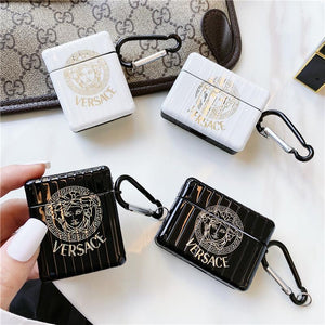 Versace Style Electroplating Protective Case For Apple Airpods 1 & 2 & Pro - Casememe.com