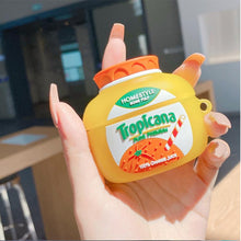 Load image into Gallery viewer, Tropicana Orange Juice Silicone Protective Case For Apple Airpods 1 & 2 & Pro - Casememe.com