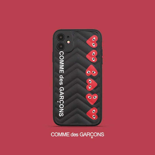 Comme Des Garcons PLAY Style Shockproof Protective Designer iPhone Case For iPhone SE 11 Pro Max X XS Max XR 7 8 Plus