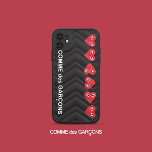 Comme Des Garcons PLAY Style Shockproof Protective Designer iPhone Case For iPhone 12 SE 11 Pro Max X XS Max XR 7 8 Plus - Casememe.com