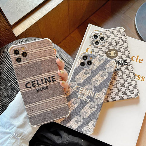 Celine Style Fabric Designer iPhone Case For All iPhone Models - Casememe