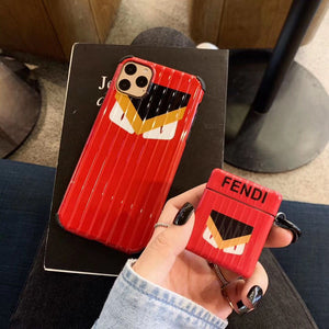 Fendi Style Monster Box Protective Case For Apple Airpods 1 & 2 & Pro - Casememe.com