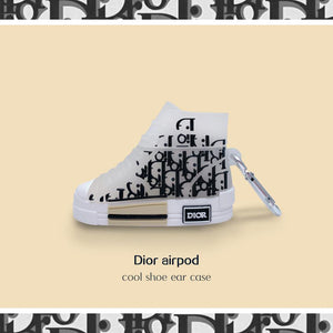 Christian Dior Style Sneaker Glow in the Dark Protective Case For Apple Airpods 1 & 2 & Pro - Casememe.com