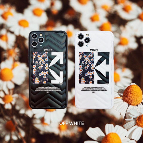 OFF White Style Daisy Shockproof Protective Designer iPhone Case For iPhone SE 11 Pro Max X XS Max XR 7 8 Plus